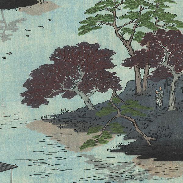 Inside Akiba Shrine, Ukeji by Hiroshige (1797 - 1858)
