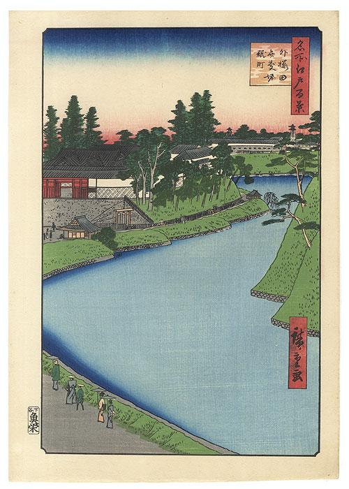 Benkei Moat from Soto-Sakurada to Kojimachi by Hiroshige (1797 - 1858)