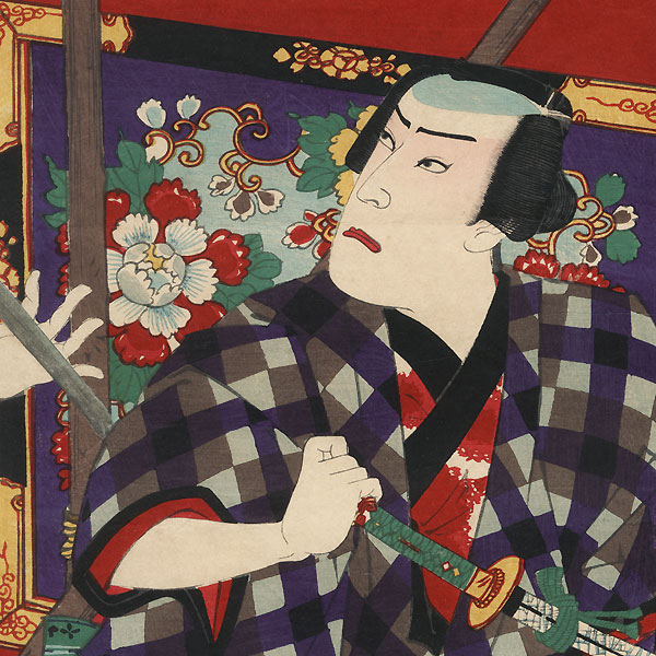 Attack at a Shrine, 1885 by Kunichika (1835 - 1900)