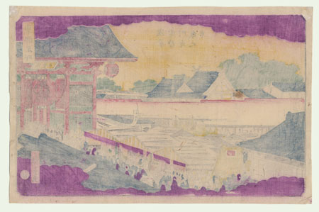View of a Shrine by Hiroshige III (1843 - 1894)