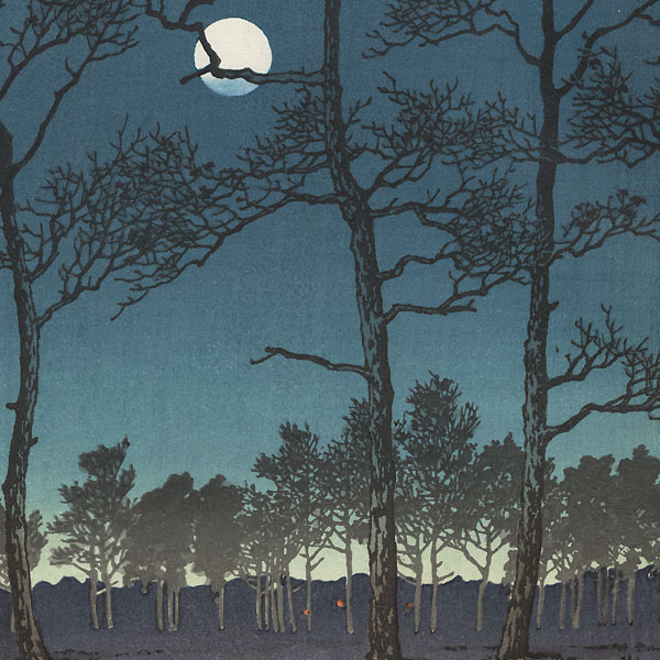 Winter Moon over Toyama Plain, 1931 by Hasui (1883 - 1957)