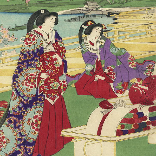 Gifts for the Imperial Court by Chikanobu (1838 - 1912)