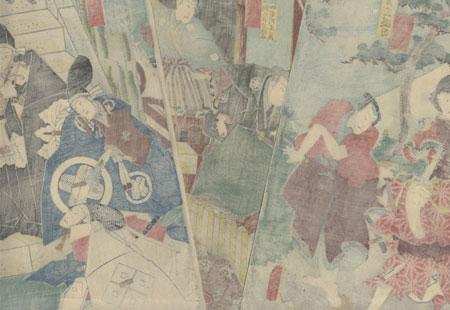 The 47 Ronin, Acts 1, 2, and 3 by Toyokuni III/Kunisada (1786 - 1864)