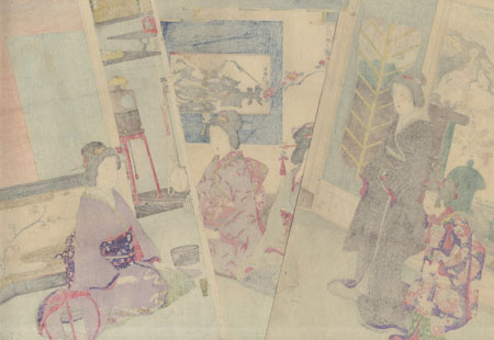 Guests Arriving for a Tea Ceremony by Nobukazu (1874 - 1944)