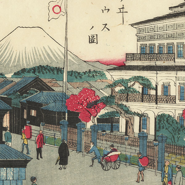 The Mitsui Building with View of Mt. Fuji by Kunisada III (1848 - 1920)