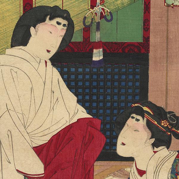 Wife of Tokugawa Tsunayoshi, No. 5 by Kunichika (1835 - 1900)