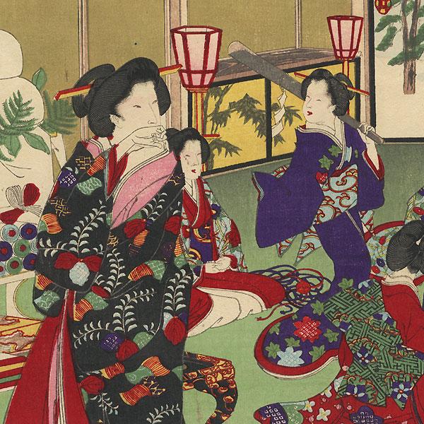 Evening Entertainment by Chikanobu (1838 - 1912)