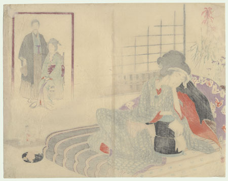 Operating Room, 1895 by Toshikata (1866 - 1908)