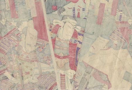 Confrontation at a Minamoto Encampment, 1894 by Kunisada III (1848 - 1920)