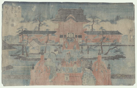 The Precincts of Tenmangu Shrine at Kameido, 1853 by Hiroshige (1797 - 1858)