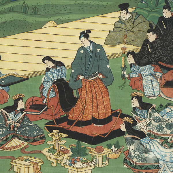 Kyoto: Preparing to Go Out by Yoshimori (1830 - 1884)