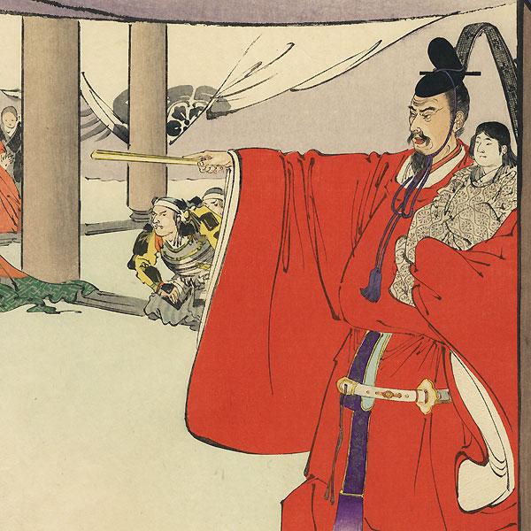 Hideyoshi's Challenge by Kokunimasa (1874 - 1944)