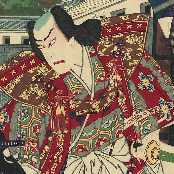 Scene from the 47 Ronin, 1881 by Kunisada III (1848 - 1920)