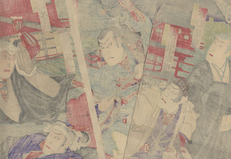 Battle of Ueno, 1890 by Kunisada III (1848 - 1920)