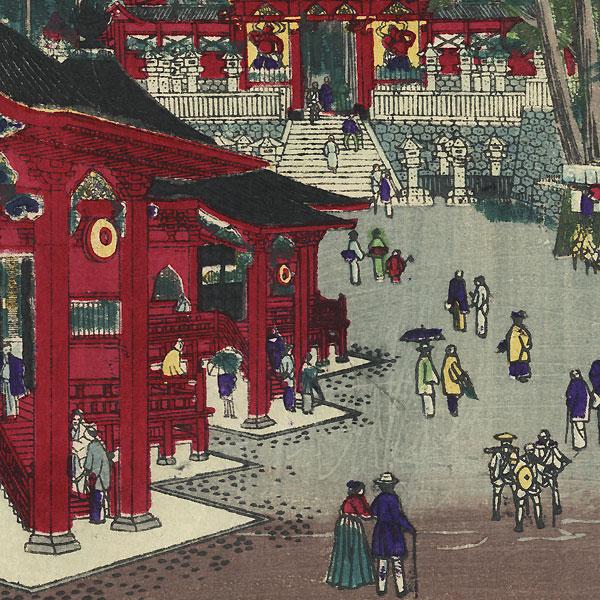 Futatsudo Temple by Hasegawa Chikuyo (active circa 1880)