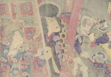 Attacker on the Verandah by Kunisada III (1848 - 1920)