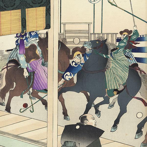 Polo Tournament  by Chikanobu (1838 - 1912)