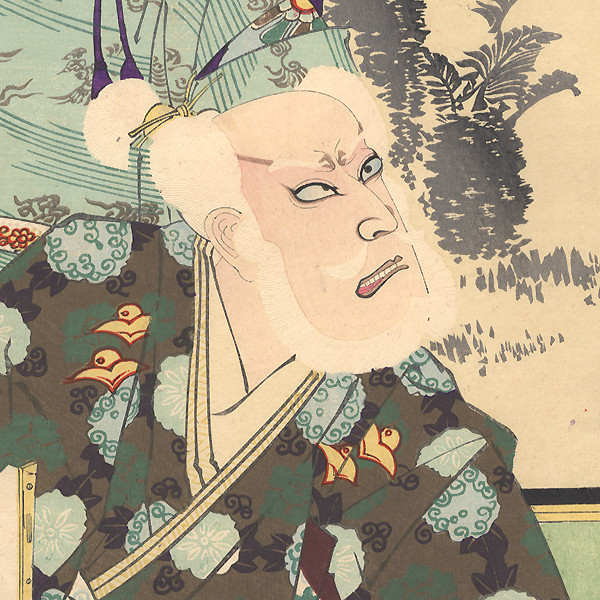 Angry Elder and Child Emperor, 1898 by Kunichika (1835 - 1900)