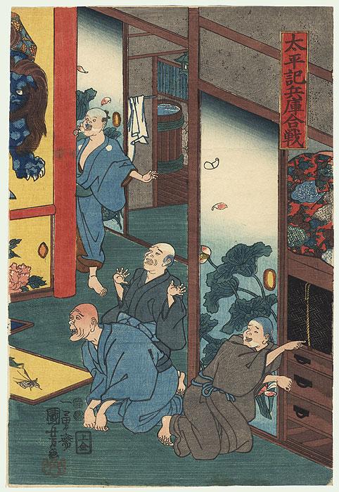 The Battle of Hyogo in the Taiheiki, 1849 - 1852 by Kuniyoshi (1797 - 1861)