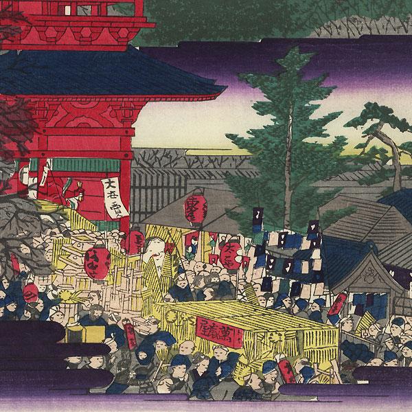 The Year-end Fair at Kinryuzan Temple, 1869 by Hiroshige III (1843 - 1894)