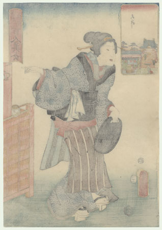 Tenjin Shrine, 1857  by Toyokuni III/Kunisada (1786 - 1864)