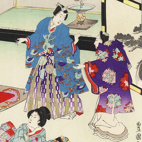 Sawarabi, Chapter 48 by Toyokuni III/Kunisada (1786 - 1864)