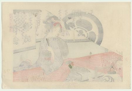 Wisteria Blossoms by Ikeda Terukata (1883 - 1921)