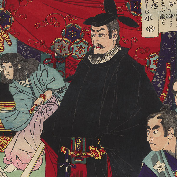 Arguing with a Nobleman, 1883  by Toyonobu (1859 - 1886)
