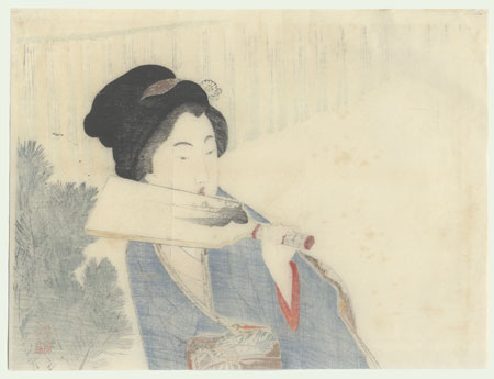 Beauty at New Year's Kuchi-e Print, 1902 by Takeuchi Keishu (1861 - 1942)