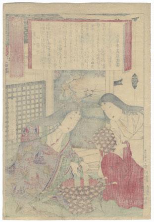 Wife of Tokugawa Ienobu, No. 6 by Kunichika (1835 - 1900)