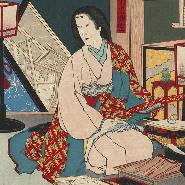 The Fifth Year of the Keicho Era, 1885 by Kiyochika (1847 - 1915)