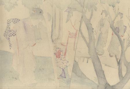 Picking Herbs and Wildflowers, 1899 by Miyagawa Shuntei (1873 - 1914)