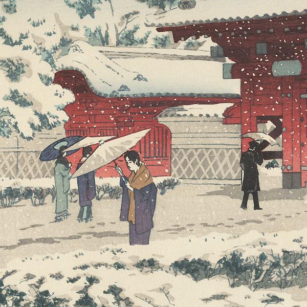 Red Gate at Hongo in Snow, 1935 by Kasamatsu Shiro (1898 - 1991)
