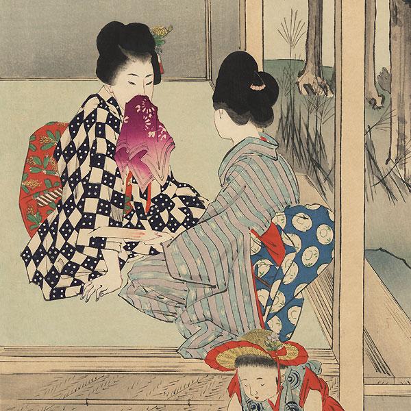 September: Autumn Garden by Miyagawa Shuntei (1873 - 1914)