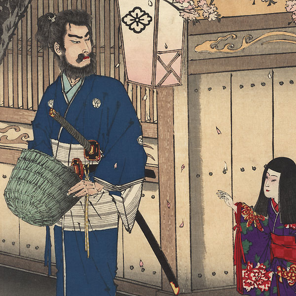 Scene from the Genpei Seisuiki, 1885 by Meiji era artist (not read)
