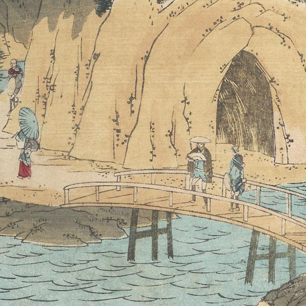 Waterfall River at Oji, 1869 by Hiroshige III (1843 - 1894)