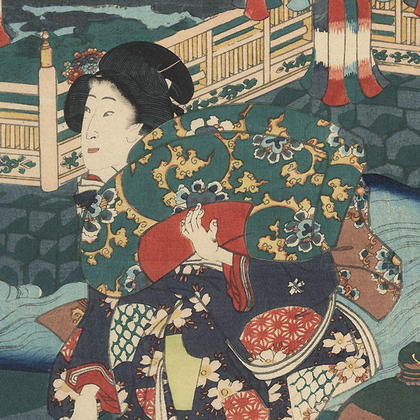 Prince Genji on a Summer Evening, 1862 by Toyokuni III/Kunisada (1786 - 1864)