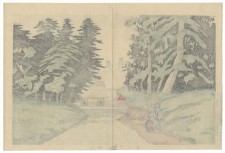 View inside Ueno Park by Kiyochika (1847 - 1915)