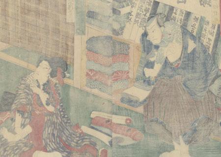 Tattooed Thief in Disguise, 1862 by Toyokuni III/Kunisada (1786 - 1864)