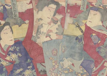 Angry Confrontation by Sadanobu II (1848 - 1940)