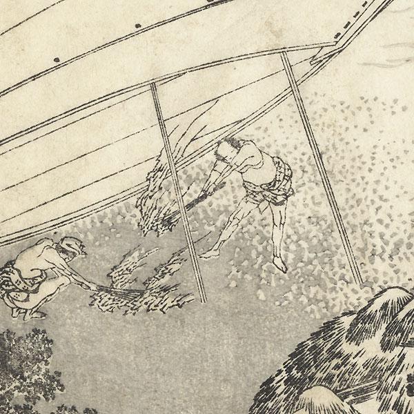 Fuji with a Rocket by  Hokusai (1760 - 1849)