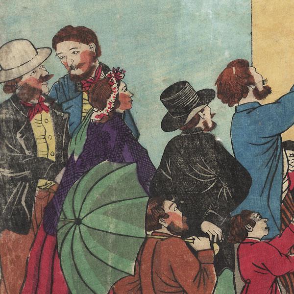 Johann Friedrich Bottger, circa 1870 by Meiji era artist (unsigned)