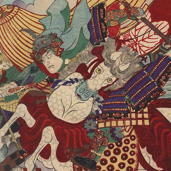 The Battle of Kawanakajima by Yoshitora (active circa 1840 - 1880)
