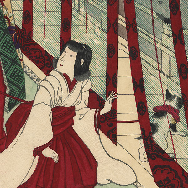 Yamashiro, Flowers of Ouchi, the Third Princess, No. 27 by Chikanobu (1838 - 1912)