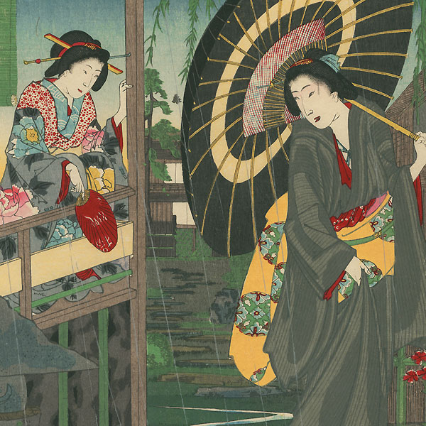 Beauties of Shinagawa-ro, 1884 by Chikanobu (1838 - 1912)