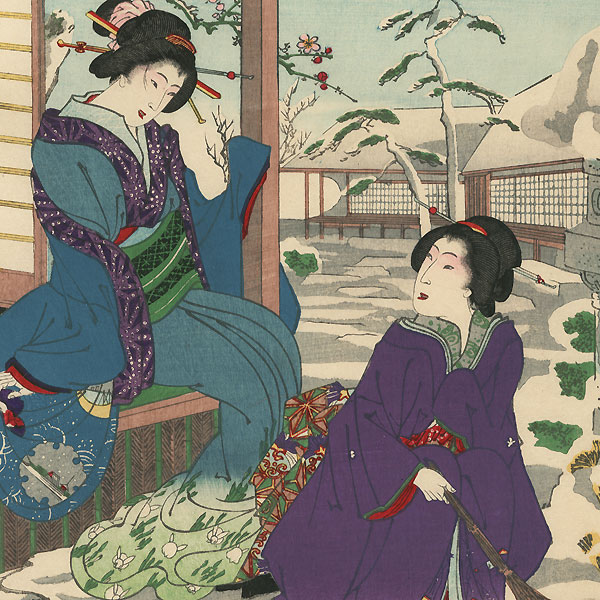 Sugawara of Daimonji-ro and Oai of Nakanocho, 1884 by Chikanobu (1838 - 1912)