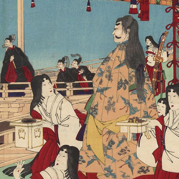 Sarujima, 1884 by Chikanobu (1838 - 1912)