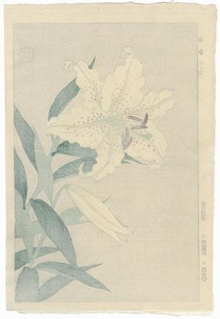 Gold-banded Lily by Kawarazaki Shodo (1889 - 1973)