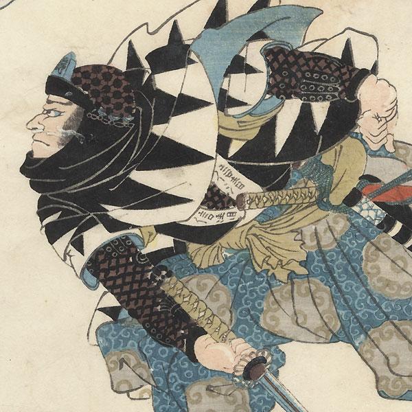 Oboshi Seizaemon Nobukiyo by Kuniyoshi (1797 - 1861)
