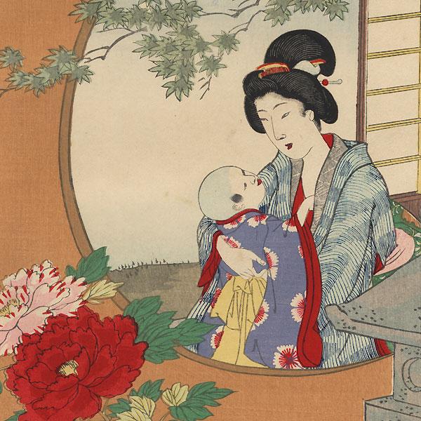 Garden in Early Summer, 1893 by Chikanobu (1838 - 1912)